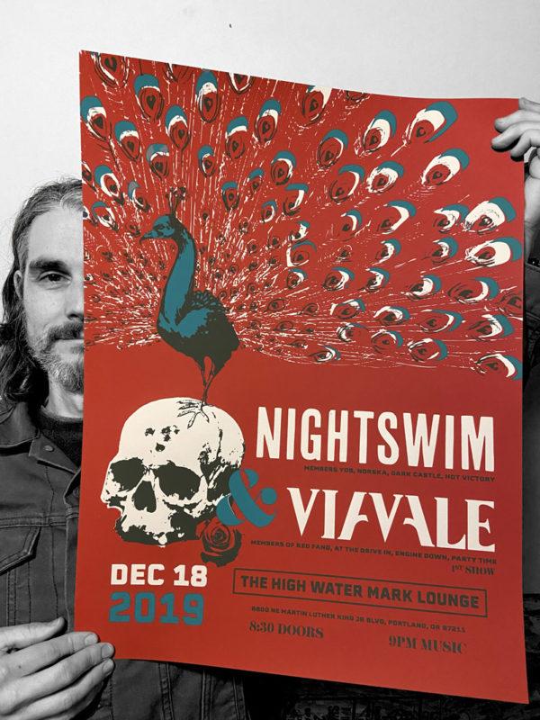 Via Vale 1st show Silkscreen Poster